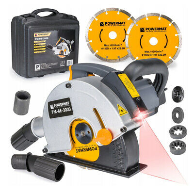 ELECTRIC WALL CHASER 3000W LASER GUIDED 150mm DISC / HARD CASE + ACCESSORIES