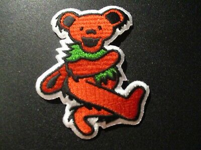 "Grateful Dead Garcia 2/"" Pink Dancing Bear Logo Sew Iron On Embroidery Patch"