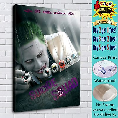"16""x22""Suicide Squad Joker HD Canvas prints Painting Home decor Picture Wall art"