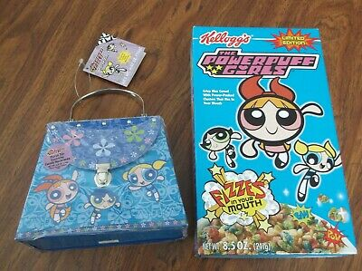 Powerpuff Girls Metal Purse And Cereal Box