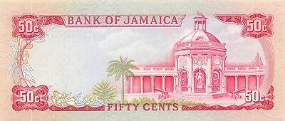 Jamaica  50  Cents  ND. 1970  P 53a  Series  M  Uncirculated Banknote Me20
