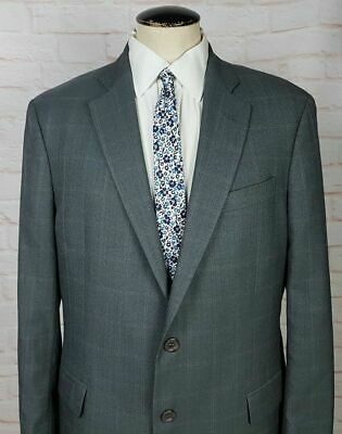 Brooks Brother's Men's Regent Fit Sport coat Jacket Gray Check Wool Size 42L