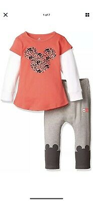 NewAdidas Disney Minnie Mouse Baby Toddler Girls Outfit 9-12 Months Bnwt Rrp £45
