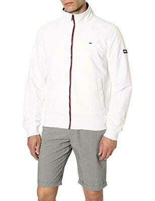 Tommy Jeans Tjm Essential Casual Bomber, Bianco (Classic White 100), L Uomo
