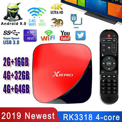 X88 PRO 4GB+64GB Smart Android 9.0 Set Top Box 2.4G/5G Dual Wifi 4K TV Receiver