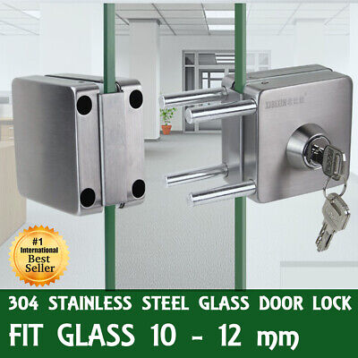 New 304 Stainless Steel Antitheft Security Glass Door Lock for 10-12mm Thickness