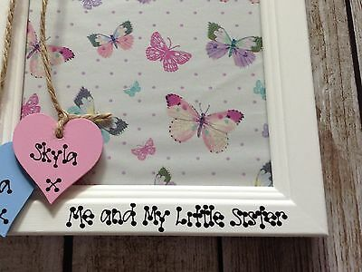 Big Sister Little Brother Twins Personalised Photo frame 4 x 6 gift