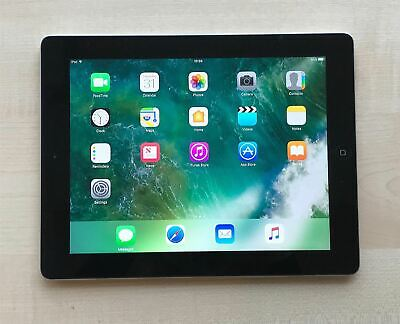 Apple iPad 4th Generation Black 16GB Wi-Fi iOS 10 Grade B