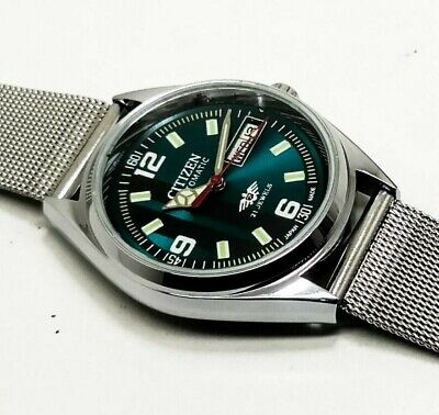 Citizen Automatic Men,S Steel Plated Vintage Green Dial Made Japan Watch Order