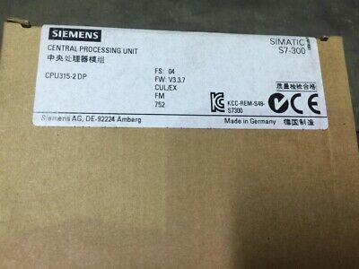 Siemens SIMATIC S7-300, CPU 315-2DP with MPI 6ES7 315-2AH14-0AB0.