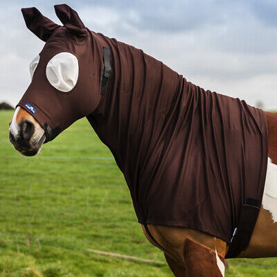 Snuggy Hoods Sweet Itch Horse Hood with Mesh Eyes - M Pull On - NEW