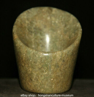 "Good ""Hong shan"" Culture Old Jade Jadeite Carved Dynasty Yu Zong Jade Cong L 3 """
