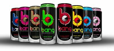 BANG Energy 12 x 500ml Pre Workout Drink **FREE UK DELIVERY / ALL FLAVOURS**