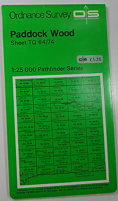 1975 old OS Ordnance Survey Second Series Pathfinder Map TQ 64/74 Paddock Wood