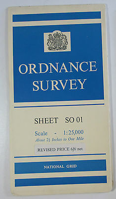 1960 old vintage OS Ordnance Survey 1:25000 First Series Map SO 01 Ponsticill
