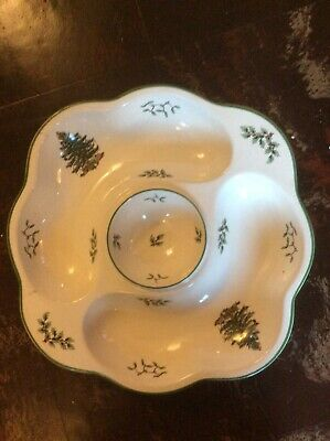 Large Spode Christmas Tree Plate Hors D'oeuvres Snack Nibbles Nut Dish