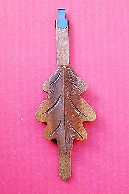 New genuine Black Forest Oak leaf hand carved German cuckoo clock pendulum,  (4)