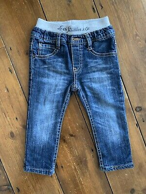 Baby Levi's Age 12 Months Jeans Elasticated Waist Blue Mid Wash