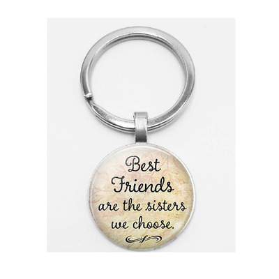 Key Chain '' Best Friends Are The Sisters We Choose '' Friendship BFF Keyring UK