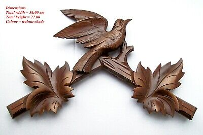 Hubert Herr hand carved cuckoo clock top piece,  36.00 cm wide with fixings.  WN