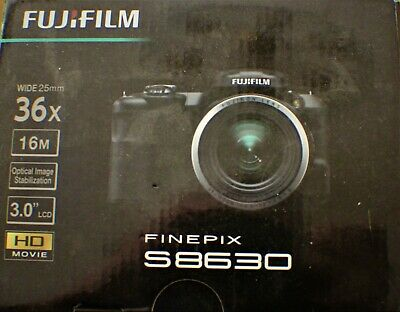 Fujifilm Fuji Finepix S8630 36X Zoom 16 MP 3 inch LCD - BRAND NEW-Open Box