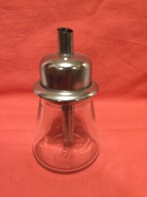 Sugar Pourer/Shaker Glass Base Stainless Steel Top/Dispenser