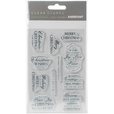 KaiserCraft Clear Stamps Christmas Greetings CS370