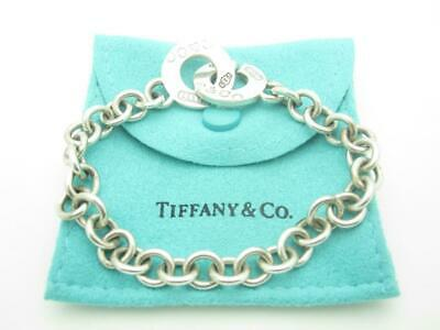 """Tiffany & Co. Sterling Silver 1837 Collection Clasp Toggle Chain Bracelet 7.5"""""""