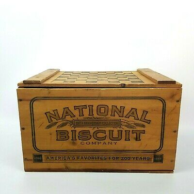 National Biscuit Company Wood Box Nabisco 200th Anniversary Vintage Wooden Crate