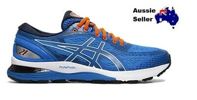 NEW! Asics Mens Gel Nimbus 21 Training Running Gym Shoe Blue 1011A169 401