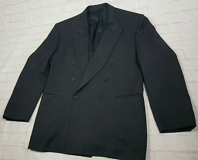 Canali Men's Sport coat Jacket Double Breasted Blazer Navy Wool Italy Size 42R