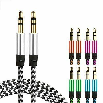 AUX Cable 3.5mm Stereo Audio Input Cord Male to Male Auxiliary Car Speaker