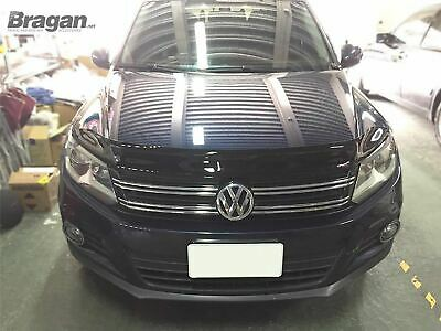 Bonnet Guard For Volkswagen Tiguan 2007 - 2012 Tinted Smoked Acrylic Protector