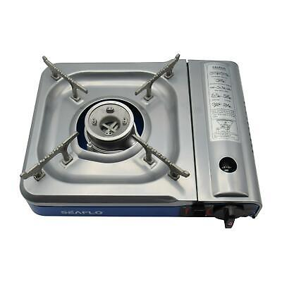 Portable Camping Gas Stove - Deluxe Outdoor BBQ Cooker Hiking Butane Hob Single