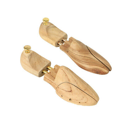 New Hard Wood Beige Nude+Gold Tone 1 Pair Shoe Tree,Stretcher Size 44