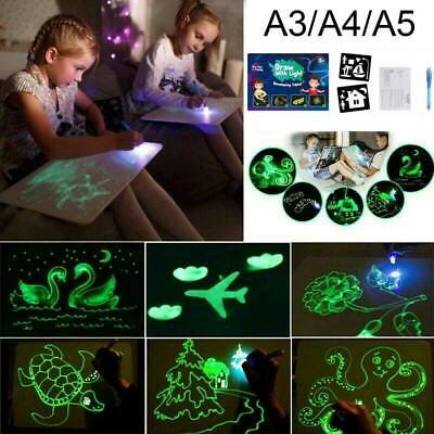 LED Light up Writing Board Kids Painting Drawing Tablet Flash Magic Erasable Toy