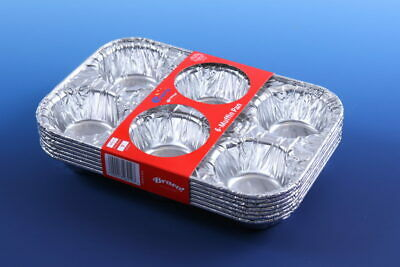 6-Muffin Pan Foil Trays 25x17cm (Case of 280)