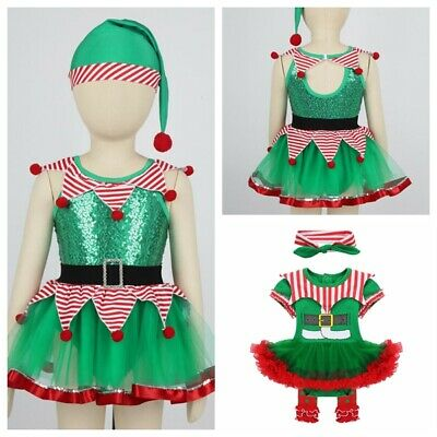 Baby Girls Clown Outfit Christmas Costume Fancy Dress Up Sequined Party Jumpsuit