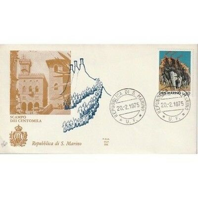 1975 FDC Wing San Marino Scampo Dei One Hundred Thousand MF81638
