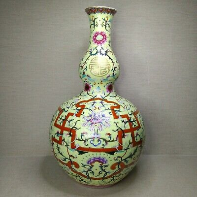 Antique Chinese porcelain vase, 20th century. There stamped.