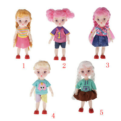 MagiDeal 16cm Mini Fashion Doll Kids Girls Toy With Clothings Shoes Outfits