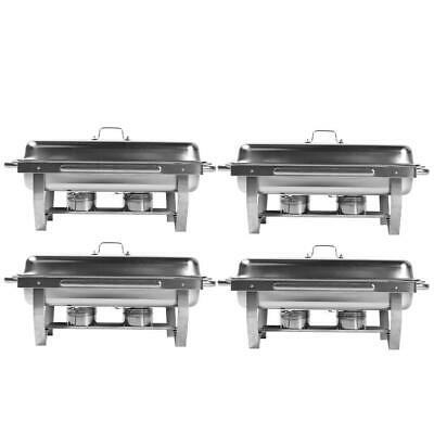 4 Pc 401 Stainless Steel Stove Restaurant Cooking Utensil 9L/8 Quart for Buffets