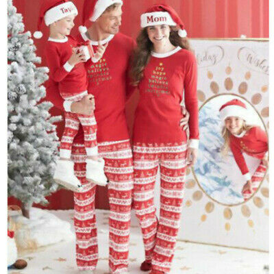 2019 Family Matching Adult Kids Christmas Pyjamas Xmas Nightwear Pajamas Sets