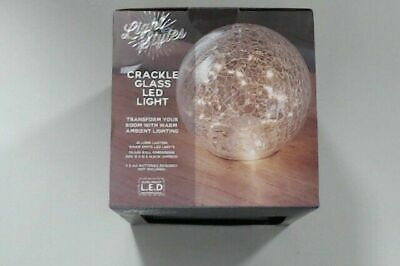Crackle Glass Led Light Boxed New -  Free Postage