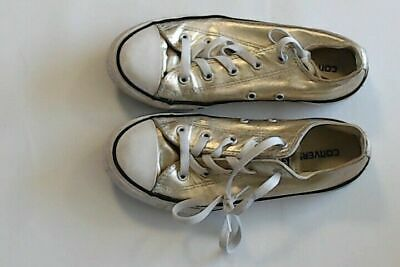 Converse All Star Gold Trainers Size UK 2 Kids Girls FREE POSTAGE