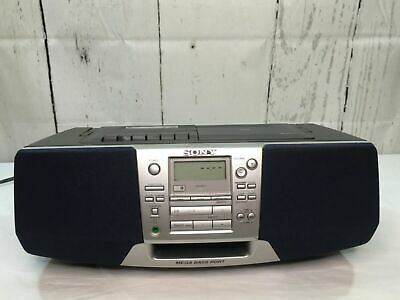 Sony Model CFD-S38 CD AM/FM Radio Cassette-Corder Portable BoomBox TESTED WORKS