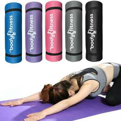 Body Fitness Yoga Mat - Pilates Gym Exercise Strap 15mm Thick Large Comfortable