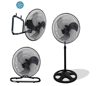 "Premium Large High Velocity Industrial 18"" Floor Fan, Stand Mount & Oscillation"