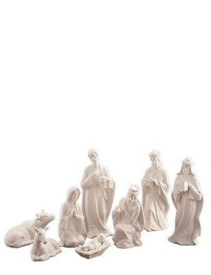 Victorian Trading Co 8pc White Porcelain Nativity Set