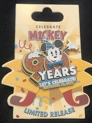 Disney Mickey Mouse 90 Years - 90th Birthday Let's Celebrate Limited Release pin